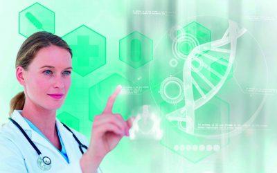 Visita médica de folleto a la inteligencia artificial